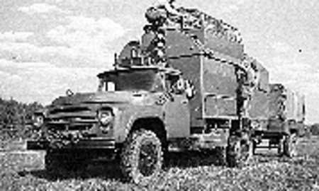 130 KO Koffer, Startkommando Punkt SKP 11 NVA, with trailer